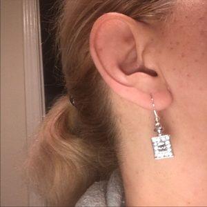 Chanel charm earrings silver